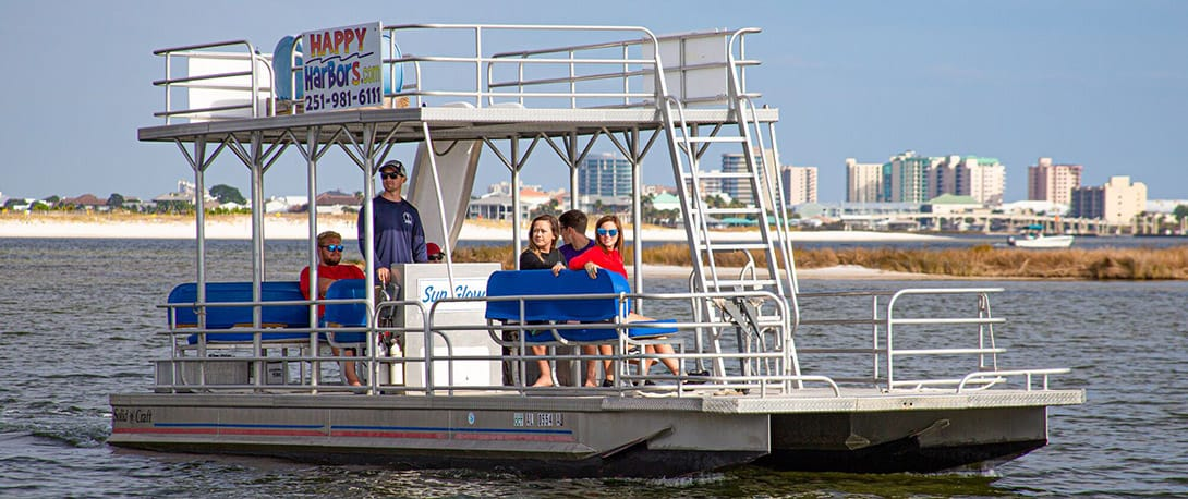 Pontoon Boat With Slide Rentals Happy Harbor Marina