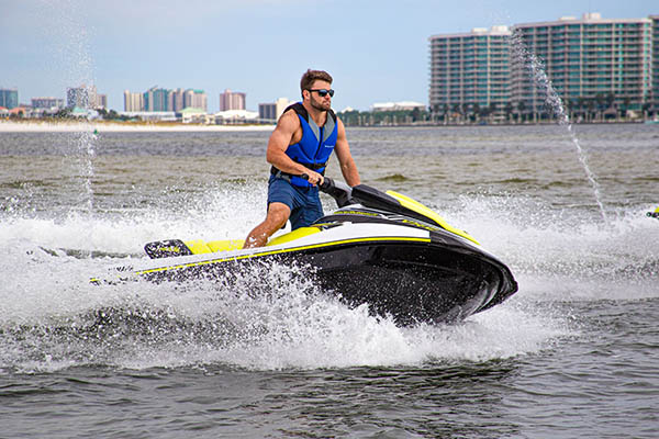 Explore the beautiful Orange Beach waterways on a Guided Jet Ski Dolphin Tour!
