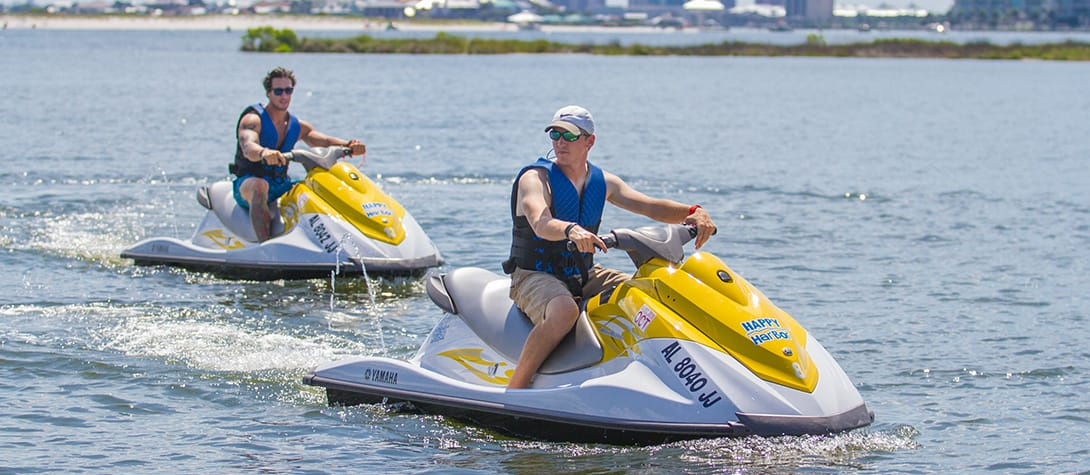 Jet Ski Rentals at Happy Harbor Marina in Orange Beach, AL!